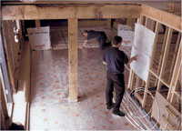 Installing a typical UFH system